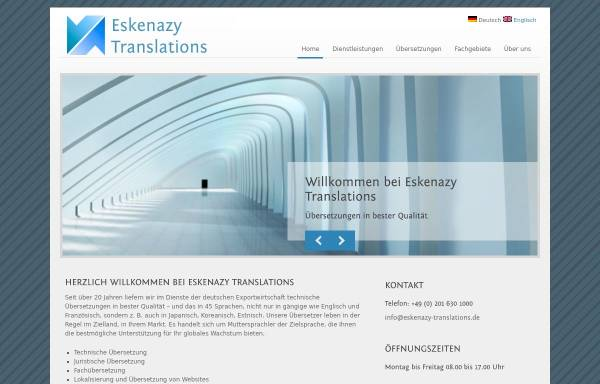 Vorschau von www.eskenazy-translations.de, Albert Eskenazy