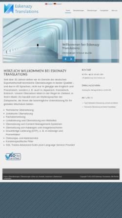 Vorschau der mobilen Webseite www.eskenazy-translations.de, Albert Eskenazy