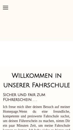 Vorschau der mobilen Webseite www.fahrschule-mini-drive.de, Fahrschule Mini-Drive