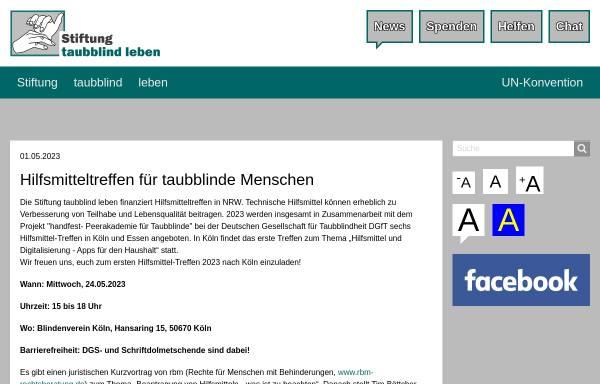 Vorschau von www.stiftung-taubblind-leben.de, Stiftung taubblind leben