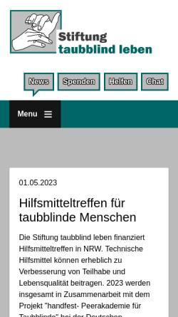 Vorschau der mobilen Webseite www.stiftung-taubblind-leben.de, Stiftung taubblind leben
