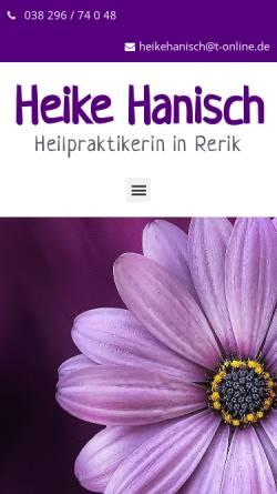 Vorschau der mobilen Webseite www.heikehanisch.de, Heike Hanisch