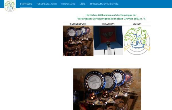Vorschau von www.vereinigte-schuetzen.de, Vereinigte Schützengesellschaften Greven 1923 e.V.