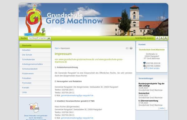 Vorschau von www.grundschule-grossmachnow.de, Grundschule Groß Machnow