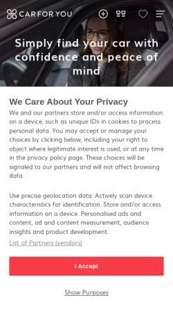 Vorschau der mobilen Webseite auto.ricardo.ch, Auto.ricardo.ch