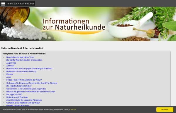 Vorschau von www.informationen-naturheilkunde.de, Informationen zur Naturheilkunde und Alternativmedizin