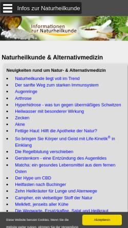 Vorschau der mobilen Webseite www.informationen-naturheilkunde.de, Informationen zur Naturheilkunde und Alternativmedizin