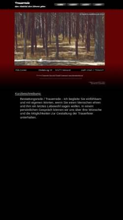 Vorschau der mobilen Webseite www.trauerredner-hannover.de, Meik Conrad