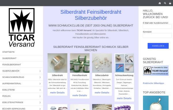 Schmuckclub Schmuck Silberdraht Silberblech Silber: Perlen, Basteln ...