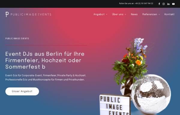 Vorschau von www.publicimage-events.de, Public Image Events