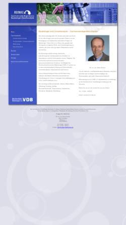 Vorschau der mobilen Webseite www.svb-reinke.de, Reinke, Heinz Dr. rer nat. - Sachverständigenbüro für Baubiologie und Umweltanalytik