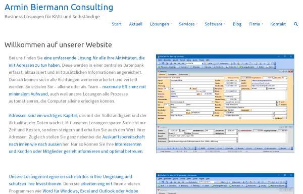 Vorschau von www.internetkompetenzzentrum.ch, Armin Biermann Consulting