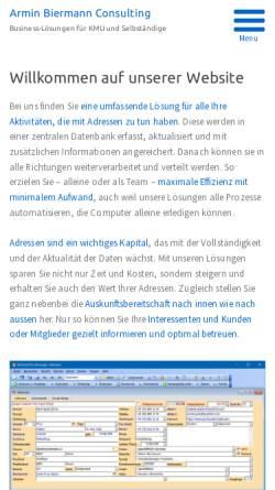 Vorschau der mobilen Webseite www.internetkompetenzzentrum.ch, Armin Biermann Consulting