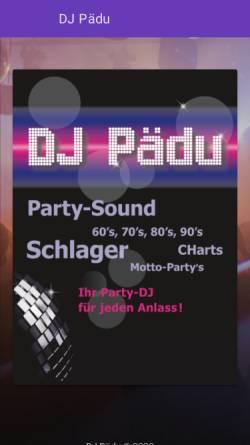 Vorschau der mobilen Webseite dj-paedu.ch, DJ Pädu