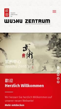 Vorschau der mobilen Webseite www.wushu-zentrum.ch, Wushu Zentrum Bern