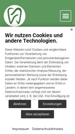 Vorschau der mobilen Webseite zahnarzt-duesseldorf-shahi.de, Zahnarzt Düsseldorf - Dr. Shahi, unique dent