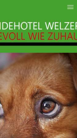 Vorschau der mobilen Webseite www.hundehotel-welzerberg.de, Hundehotel Welzerberg