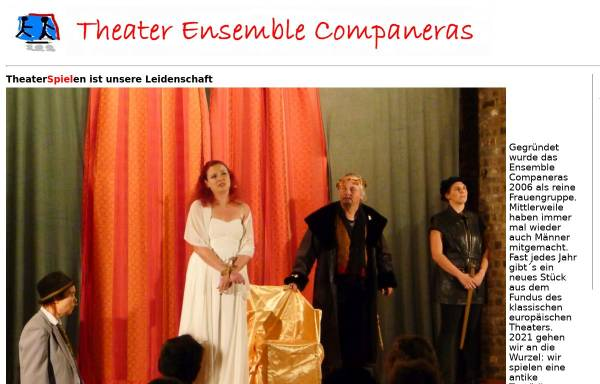 Vorschau von www.companeras.de, Theater Ensemble Companeras