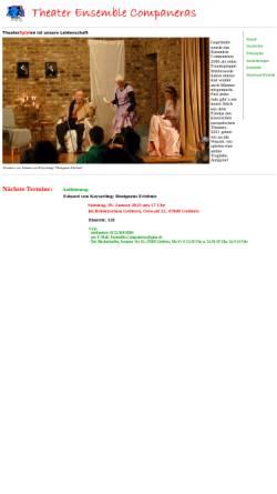 Vorschau der mobilen Webseite www.companeras.de, Theater Ensemble Companeras