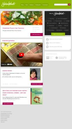 Vorschau der mobilen Webseite glutenfreiheit.org, Glutenfreiheit