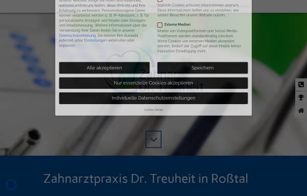 Vorschau von zahnarzt-treuheit.de, Dr. med. dent. Klaus-Dieter Treuheit