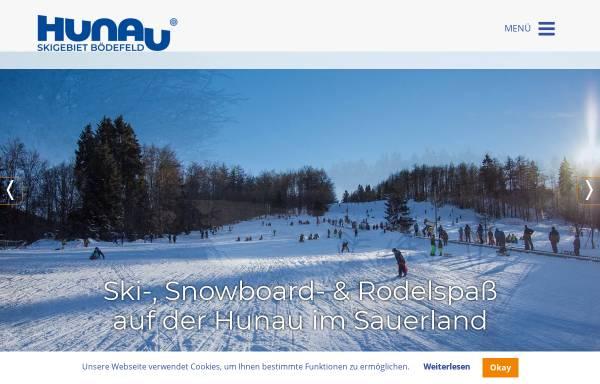 Vorschau von www.hunaulift.de, Skigebiet Bödefeld - Hunau