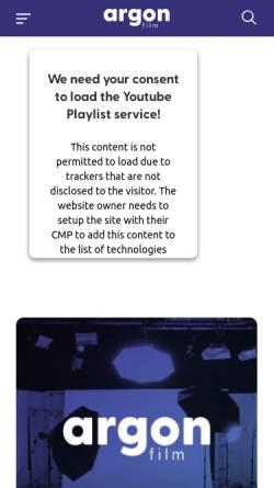 Vorschau der mobilen Webseite www.ave.de, AVE Gesellschaft für Fernsehproduktion mbH