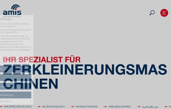 Vorschau von www.amis.de, AMIS Maschinen Vertriebs GmbH