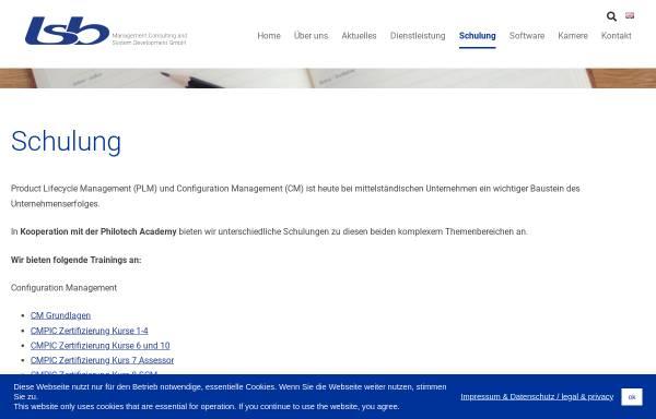 Vorschau von www.plm-schulungen.de, usb Unternehmensberatung und Systementwicklung GmbH