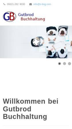 Vorschau der mobilen Webseite www.s-bsg.com, Gutbrod Buchhaltung