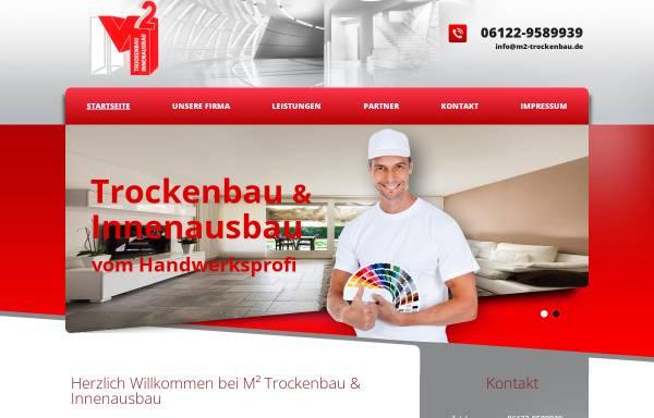 Vorschau von www.m2-trockenbau.de, M² Trocken- und Innenausbau