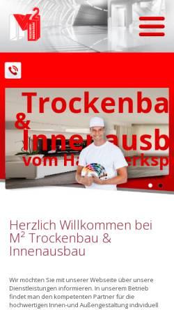 Vorschau der mobilen Webseite www.m2-trockenbau.de, M² Trocken- und Innenausbau