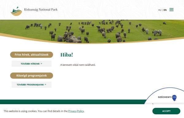 Vorschau von knp.nemzetipark.gov.hu, Nationalpark Kiskunság