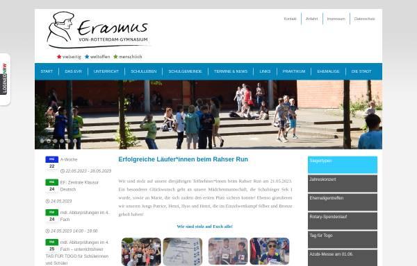 Vorschau von www.evr-viersen.de, Erasmus-von-Rotterdam-Gymnasium