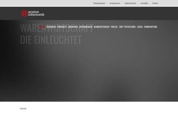 Vorschau von www.aristoninformatik.de, Ariston Informatik GmbH