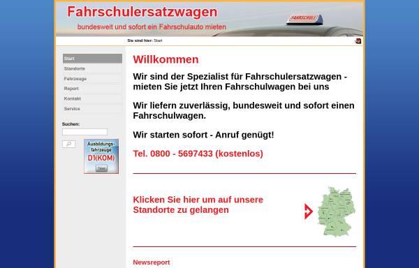 Vorschau von www.fahrschulersatzwagen.de, Fahrschulersatzwagen