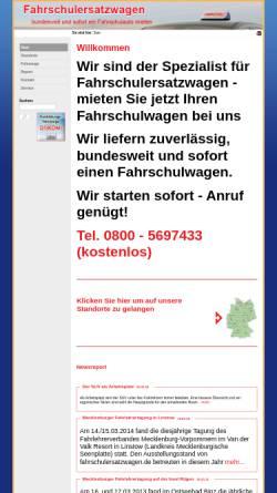 Vorschau der mobilen Webseite www.fahrschulersatzwagen.de, Fahrschulersatzwagen