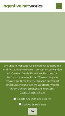 Vorschau der mobilen Webseite www.ingentive.net, Ingentive Networks GmbH
