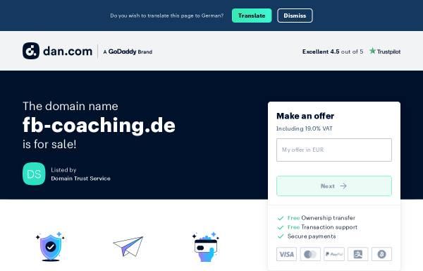 Vorschau von fb-coaching.de, Frank Bökenheide