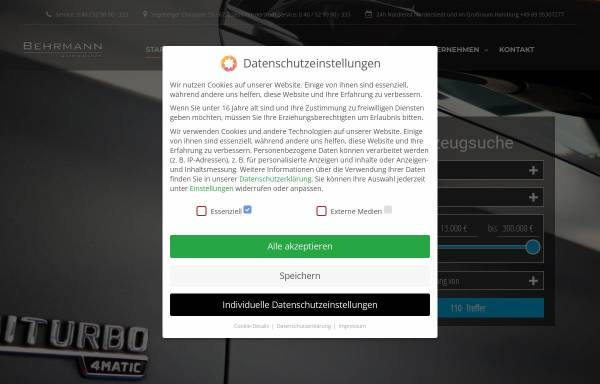 Vorschau von www.behrmann-automobile.de, Behrmann Automobile GmbH