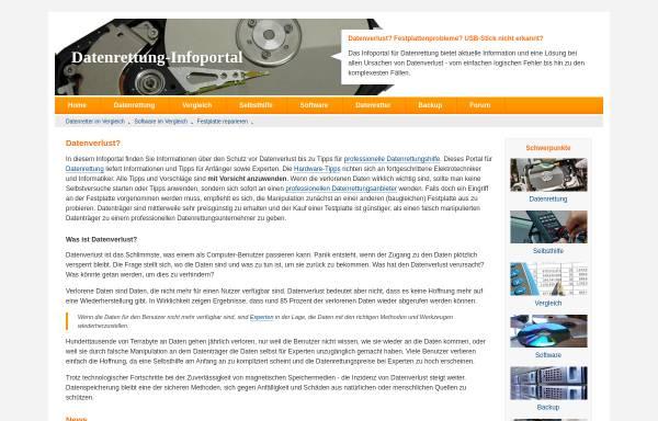 Vorschau von www.datenrettung-infoportal.de, Datenrettung Infoportal