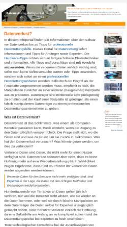 Vorschau der mobilen Webseite www.datenrettung-infoportal.de, Datenrettung Infoportal