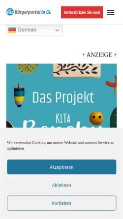 Vorschau der mobilen Webseite in-gl.de, iGL Bürgerportal Bergisch Gladbach