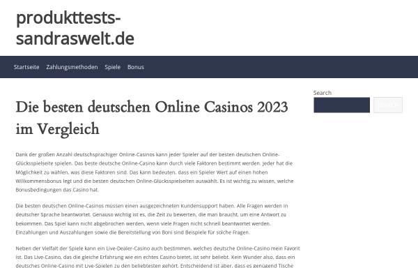 Vorschau von www.produkttests-sandraswelt.de, SandrasWelt