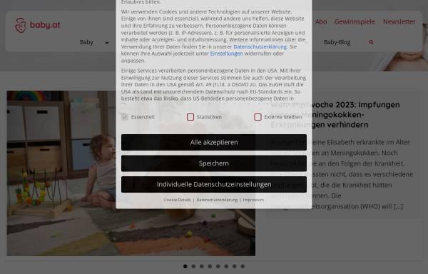 Vorschau von www.baby.at, Baby, Kind und Eltern
