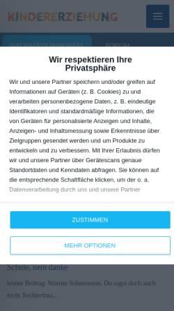 Vorschau der mobilen Webseite www.kindererziehung.com, Kindererziehung