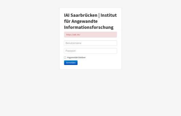 Vorschau von www.iai-sb.de, Institut für Angewandte Informationsforschung (IAI)