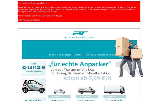Vorschau von auto-mieten-leipzig.de, Autovermietung Mobile Eiteneuer