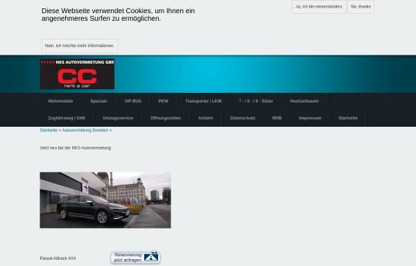 Vorschau von www.auto-mieten-dresden.de, NKS Autovermietung GbR