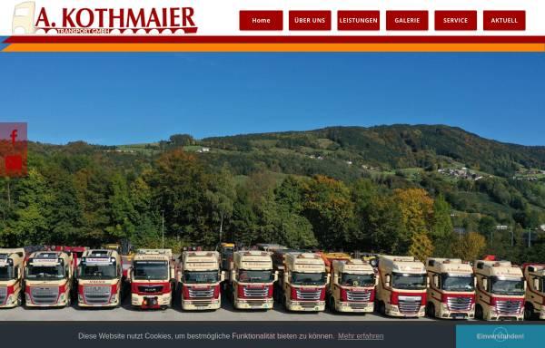 Vorschau von www.kothmaiertrans.at, A. Kothmaier Transport GmbH